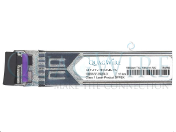 Alcatel iSFP-100-BXLC-D 100BASE-BX Bi-directional 100Mb/s Fast Ethernet 20km Singlemode Industrial SFP Optical Transceiver Module